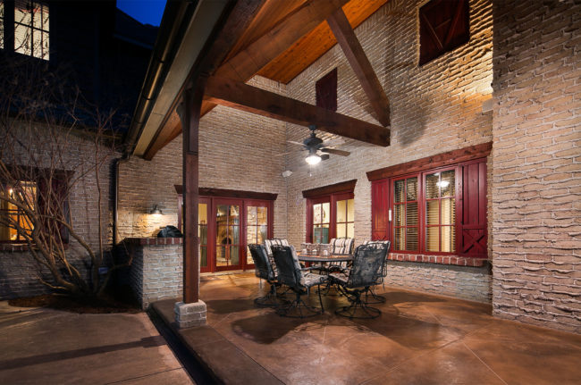Luxury Residential Back Porch Photo by Steve Voelker