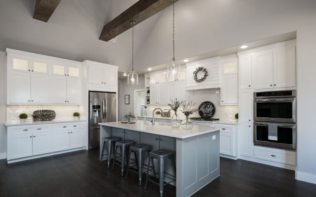 White and Gray Kitchen Real Estate Photo by Voelker Photo